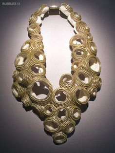"Kate Cusack | Zipper Jewelry: Necklaces ""bubbles 1X"""