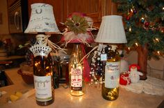 These are the wine lamps i'm making for Christmas gifts this year~! Hope you like them as much as I do~!