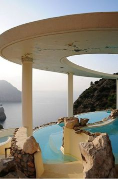 Cliff Pool, Ibiza, Spain
