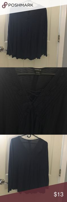 Torrid tunic Thin cotton tunic with embroidered front. Like new condition. I only wore it once. torrid Tops Tunics
