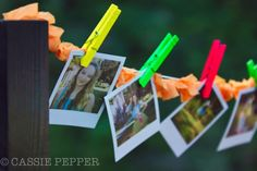 80's party decoration Polaroid garland -If only someone had a polaroid camera!!!
