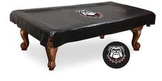 This 9' Georgia Bulldogs Pool Table Cover iththe Bulldog Logo Design by Holland Bar will protect your Nine Foot billiard table and show your University of Georgia pride in your Man Cave or Game Room!