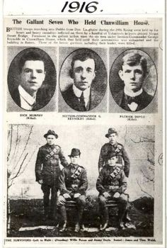 EASTER RISING 1916 The Gallant Seven of Clanwilliam House who fought in the heroic battle of Mount Street Bridge.