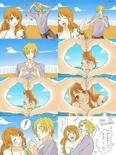 One Piece Sanji et Nami