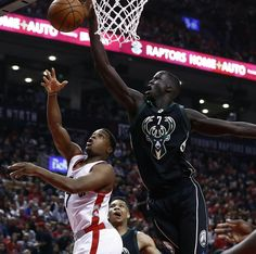 Thon Maker was a game changer defensely in his first playoff game.