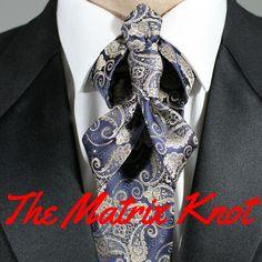 How To Tie The Matrix Knot video.  100 ways to tie a tie