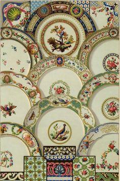 Assiette Faience 18e siècle Décoration Architecture lithographie XIXème   eBay