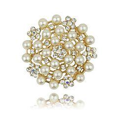 Imitation Pearls / Alloy / Rhinestone Brooch/Korean Fashion Flower Brooch/Wedding / Party 1pc