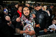 Ma'a Nonu Photos Photos - Ma'a Nonu of the All Blacks poses with mother Fale and…