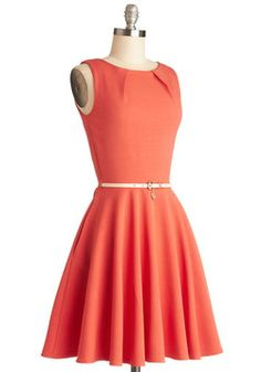 Luck Be a Lady Dress in Coral, #ModCloth