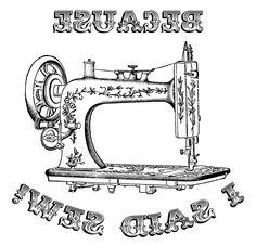 on a t-shirt. Vintage Logo, Vintage Labels, Vintage Cards, Vintage Images, Decoupage Vintage, Vintage Sewing, Foto Transfer, Image Paper, Tampons