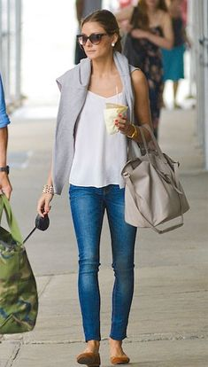 Olivia Palermo carried the One by meli melo Thela Bag when she was spotted out with her dog and boyfriend Johannes Huebel over the weekend in New York.