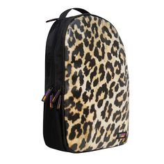 I'm Sorry What Did You Say ISWDYS 'PRRR!' loud and proud scratch proof backpack from Urban Junk.  A black Back Attack rucksack, inspired by animal prints , colours and patterns comes a Leopard print backpack the print covers the full front surface to give a smooth indie look print.  Complete with 'Urban Junk' branding in the bottom right hand corner.    Great for fitting (or stuffing) in EVERYTHING.  Quirky with a hint of cookie for good measure, add some PRRRRint! with Urban Junk.
