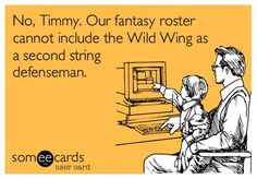 Hey, we'd draft Wild Wing on our fantasy team any day!