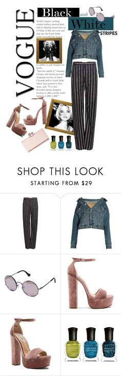 """""""Black&white and teal"""" by aneeta-990 ❤ liked on Polyvore featuring Balenciaga, Steve Madden, Deborah Lippmann and Ted Baker"""