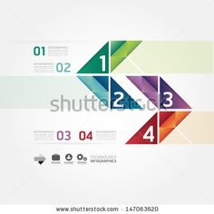 Modern Design Minimal style infographic template / can be used for infographics / numbered banners / horizontal cutout lines / graphic or website layout vector - stock vector