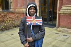 A student from the masterclass with his bespoke Brit-ish flag. Images: Magnus Andersson