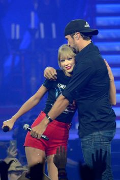 Taylor Swift and Luke Bryan