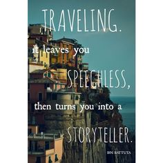 5 Inspiring Quotes That Will Make You Want To Travel The World (Part... ❤ liked on Polyvore featuring bags and luggage