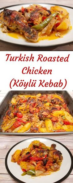 Slowly-Roasted Turkish Chicken with Vegetables (Köylü Kebab) - Turkish Recipes Easy Turkish Recipes, Greek Recipes, Ethnic Recipes, Arabic Chicken Recipes, Eastern Cuisine, Ramadan Recipes, Cooking Recipes, Healthy Recipes, Middle Eastern Recipes