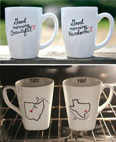 DIY mugs :) Super cute ldr idea *click for an article on how to get the best results!