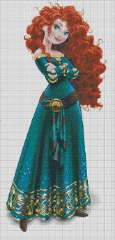 Mérida: The 11th princess of Disney Princess franchise. The other charts in Disney Princess line: Snow White Cinderella Aurora Ariel Belle Jasmine Pocahontas Mulan Tiana Rapunzel I do this as a sup...