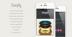 Simply - Clean HTML5 & CSS3 Mobile Theme