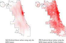 Predicting crime using Twitter and kernel density estimation