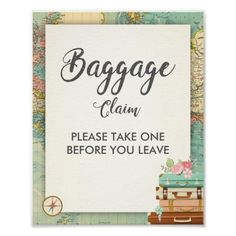 Wedding Gifts Baggage Claim Sign Travel shower Miss to Mrs Favor - wedding decor marriage design diy cyo party idea - ♥ A nice way to welcome your guests to your bridal shower! Miss to Mrs theme. Bridal Shower Welcome Sign, Bridal Shower Favors, Bridal Shower Invitations, Wedding Favors, Wedding Gifts, Brunch Invitations, Party Wedding, Invites, Fall Wedding