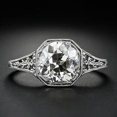 2.45 Carat Old Mine Cut Diamond Ring