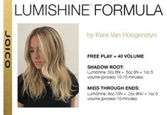 Formula by Kara Van Hoogenstyn Joico Hair Color, Cool Hair Color, Hair Colour, Hair Color Formulas, Hair Toner, Hair Painting, Color Correction, Balayage Hair, Hair Looks