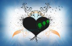 Tough heart  Pintura digital impresa sobre lienzo Edición limitada de 10 piezas