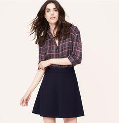 Scuba Flare Skirt | Loft