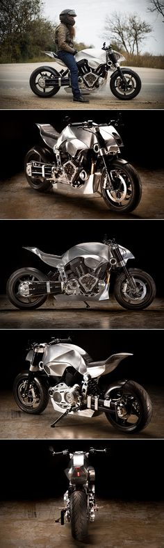 cool Confederate Hellcat Revival 140 Motorcycle Looks to be Straight from a Terminator Movie, Sports CNC-Machined Subframe Check more at https://epeak.info/2017/03/02/confederate-hellcat-revival-140-motorcycle-looks-to-be-straight-from-a-terminator-movie-sports-cnc-machined-subframe/