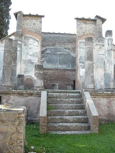 The Temple of Isis at Pompeii: Foundet beginning 1st century BC; Restored after 62 AD; Discovered 1765
