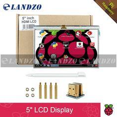LANDZO LCD HDMI Dokunmatik Ekran için 5 inç Ekran TFT 800*480 muz Pi Ahududu Pi 3/2 Model B/B +