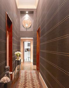 Hallway redo for Lee Radziwill's daughter in law, Carole Radziwill