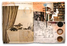 Art Journal pages, inspiration and ideas for keeping an art journal or a travel journal - Gérard Lange - Journals