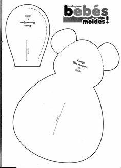 molde de ursinho para patchwork para imprimir - Pesquisa Google