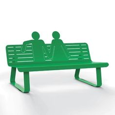 TOI ET MOI metal bench (any colour!). Designed by Thomas de Lussac. Available at Darwin's Home on http://www.darwinshome.com/en/outdoors-furniture-accessories/711-toi-et-moi-metal-bench-any-colour.html