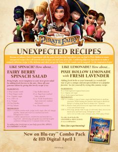 Pirate Fairy Recipes!