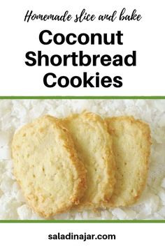 Buttery Shortbread Cookies full of coconut. Make ahead, slice, and bake when needed. Buttery Shortbread Cookies full of coconut. Make ahead, slice, and bake when needed. Icebox Cookies, Chocolate Chip Shortbread Cookies, Buttery Shortbread Cookies, Coconut Cookies, Sugar Cookies Recipe, No Bake Cookies, Cookie Recipes, Coconut Biscuits, Food Network