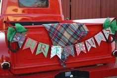 Christmas banner Christmas garland christmas by CinderellaRags