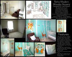 DIY aqua woodsy baby nursery @ www.seecatecreate.wordpress.com