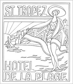 Art Deco Coloring Book   1920's art deco colouring pages