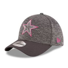 more photos 3a94e ff738 Youth Dallas Cowboys New Era Heather Gray 2016 Breast Cancer Awareness  Sideline 39THIRTY Flex Hat Nfl