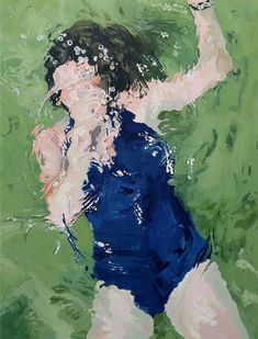 Wash over - Oil on canvas Samantha French Painting People, Figure Painting, Painting Abstract, Painting Inspiration, Art Inspo, Illustrations, Illustration Art, Underwater Painting, Underwater Photography