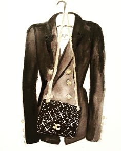 Chanel Balmain Watercolor