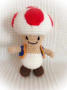 Amigurumi Toad (Mario Bros)