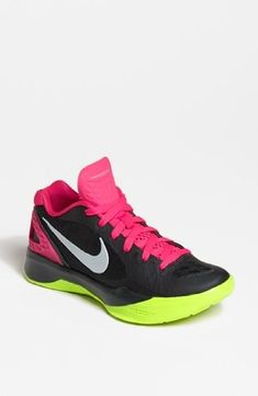 Nike Womens Volley Zoom Hyperspike AnthracitePink FlashVoltMetallic Platinum 12 B  Medium * Click image for more details. (This is an affiliate link) #NikeShoes